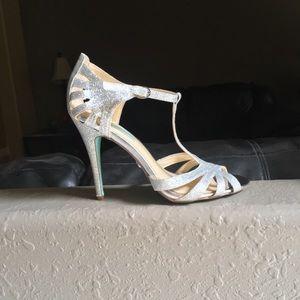 Betsey Johnson Glitter Heels